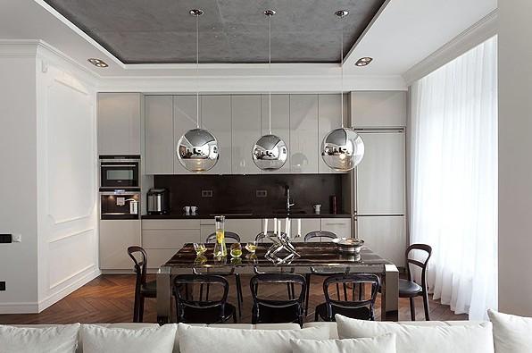cuisine gris perle noir blanc un style - Cuisine Gris Perle