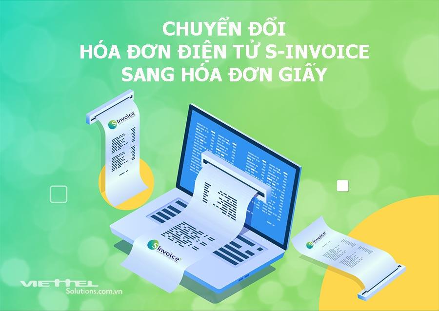 Ảnh minh họa: Hướng dẫn chuyển đối hóa đơn điện tử S-Invoice sang hóa đơn giấy