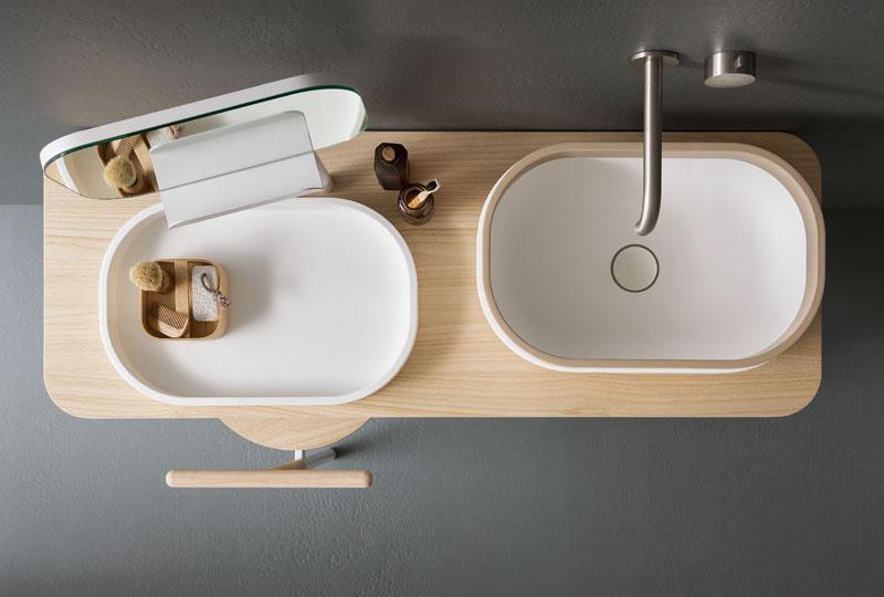 Oblon la nuova collezione di Novello arredo bagno