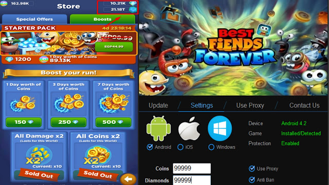 Best Fiends Forever Cheats With Unlimited Gold For on Android and IOS