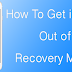 How To Get iPhone Out of Recovery Mode Without Restore