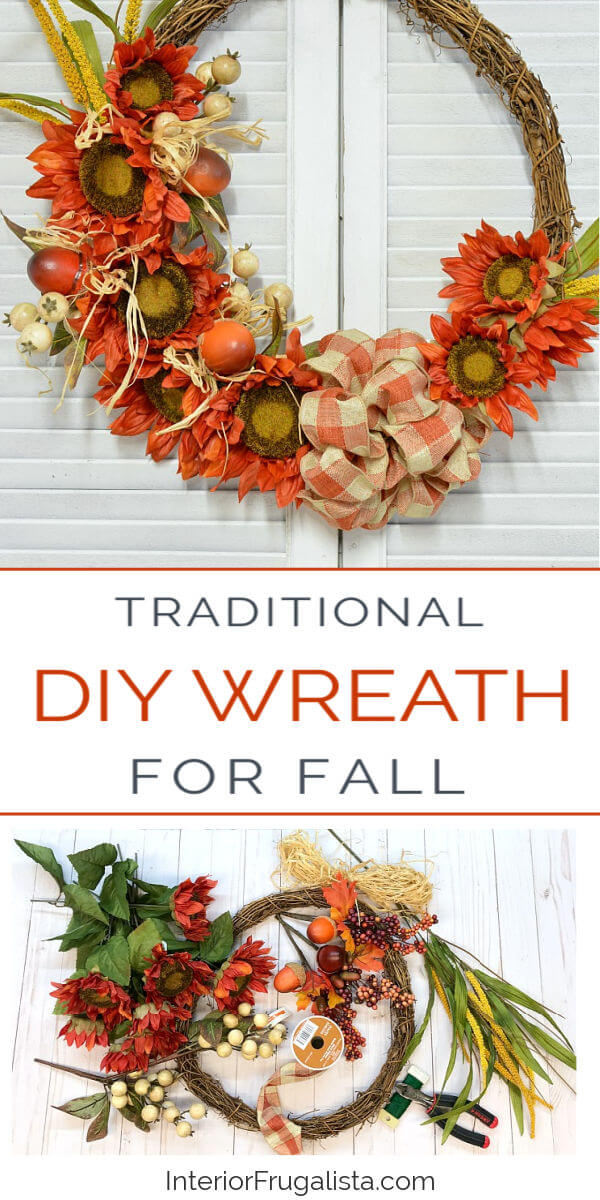 Traditional DIY Wreath For Fall
