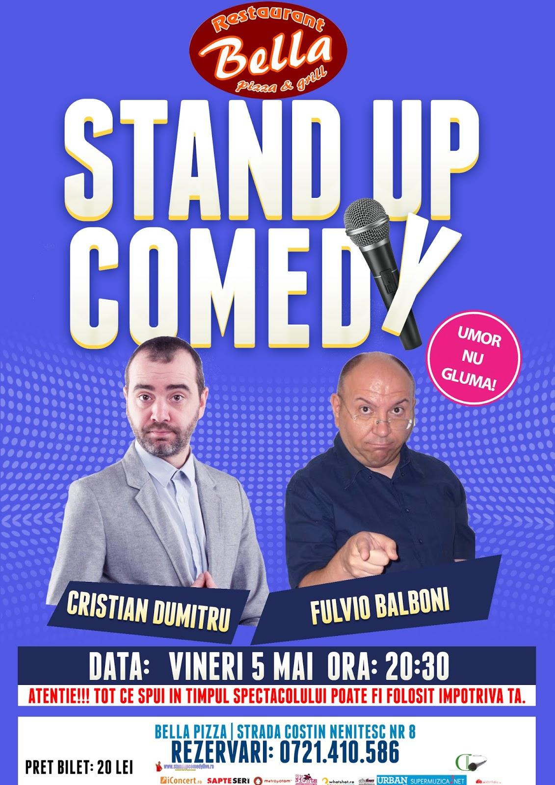 Stand-Up Comedy Vineri 5 Mai Bucuresti