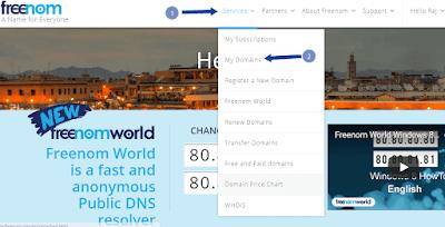 Adding free domain