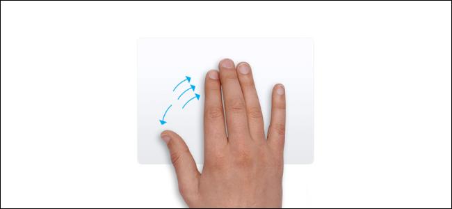 إيماءة لوحة التتبع لإظهار سطح المكتب على جهاز Mac