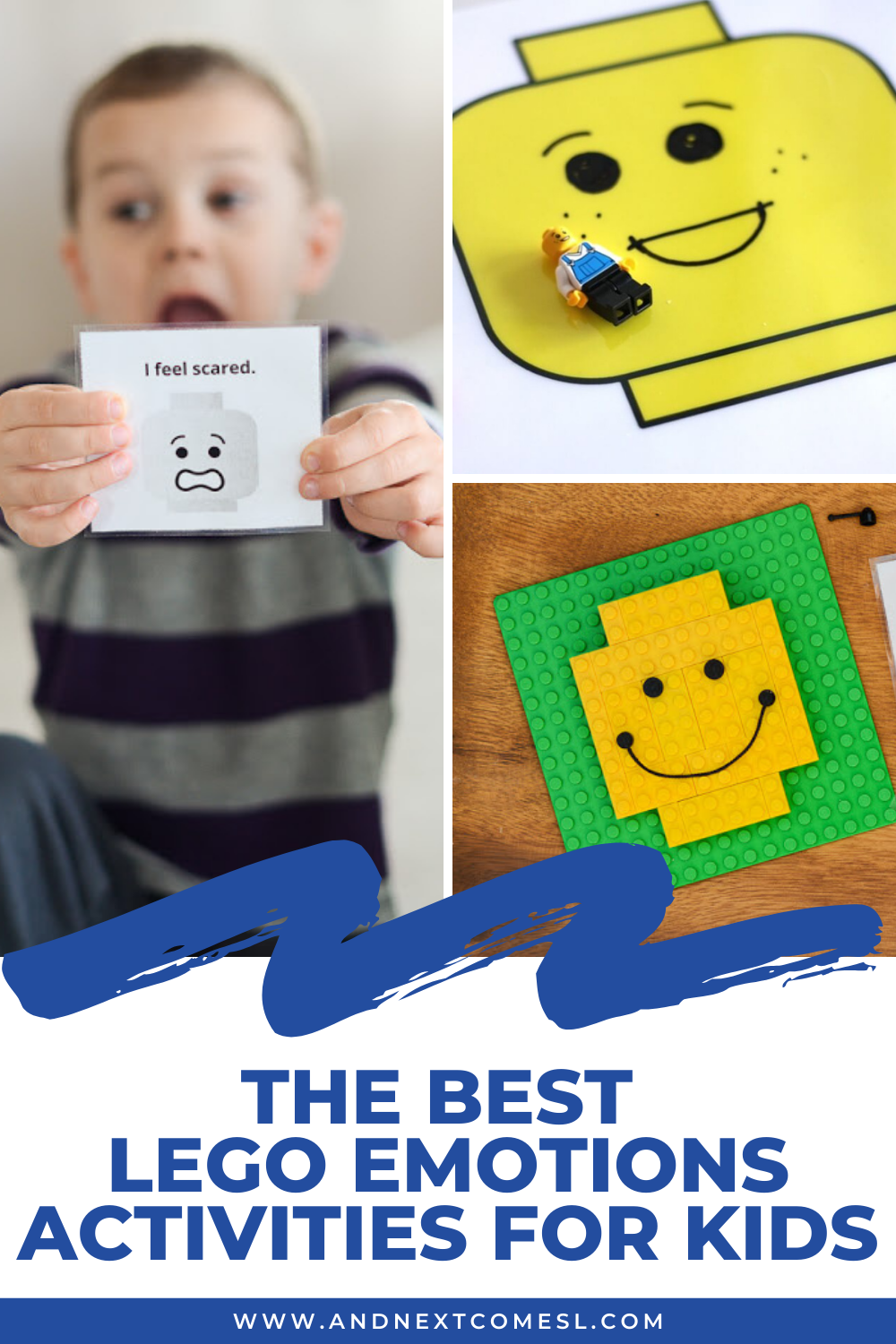 Fun LEGO emotions activities for kids - great for toddlers, preschoolers, and up!