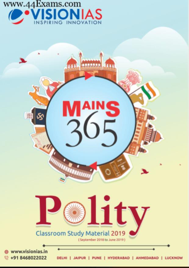 Vision-IAS-Polity-Class-Study-Material-2019-For-UPSC-Exam-PDF-Book