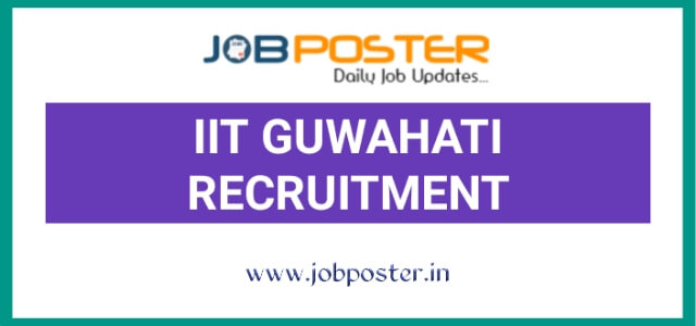 IIT Guwahati Research Associate Jobs 2020