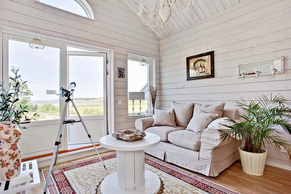 Decoraci n f cil una casa en madera clara que enamora - Casas de madera santa clara ...