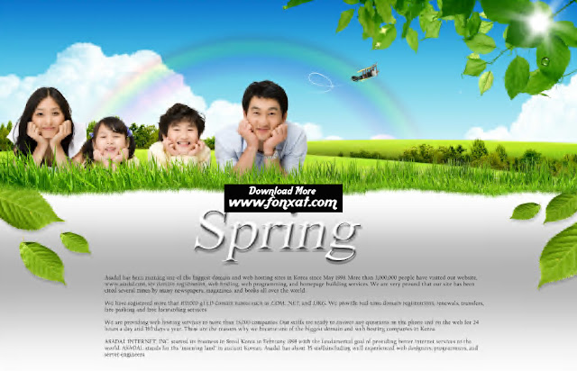 free psd download : spring