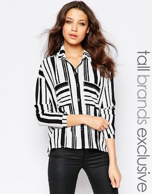 Y.A.S. Tall Vertical Stripe Shirt, $67.77 from ASOS