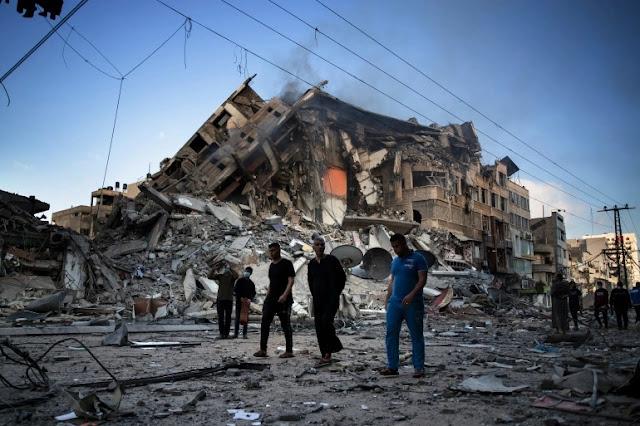 গাজায় ইসরায়েলি বাহিনীর বিমান হামলা অব্যাহত