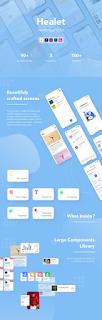 Healet | Health App UI Kit 2021 update preview