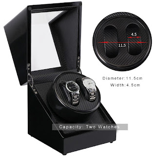 Watch Winder W113D-BT Penggerak Pemutar Jam Otomatis 2 Slot Single Head