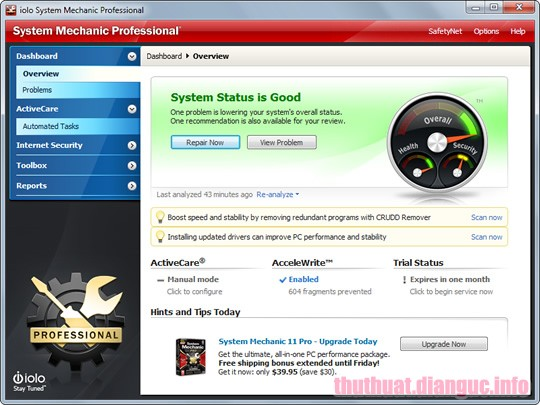 Download System Mechanic Pro 18.7.3.176 Full Crack