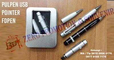 Jual pulpen usb pointer di tangerang, Souvenir Pena Multifungsi Laser Pointer