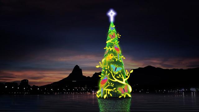 Árvore de Natal da Lagoa Rodrigo de Freitas no Rio de Janeiro
