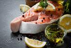 Salmon with pineapple and mango salsa