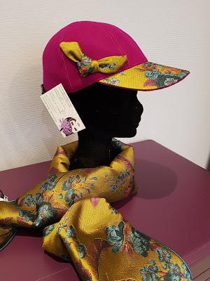 Patouche Chapeaux Casquette baseball feutre de laine et tissu japonais