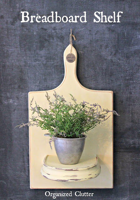 Photo of a cutting board wall shelf