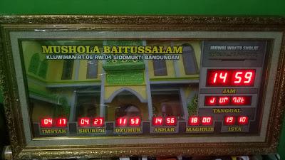 jam waktu sholat semarang, penjual jam sholat di semarang, toko jam dgital masjid semarang, pusat jam masjid digital semarang,