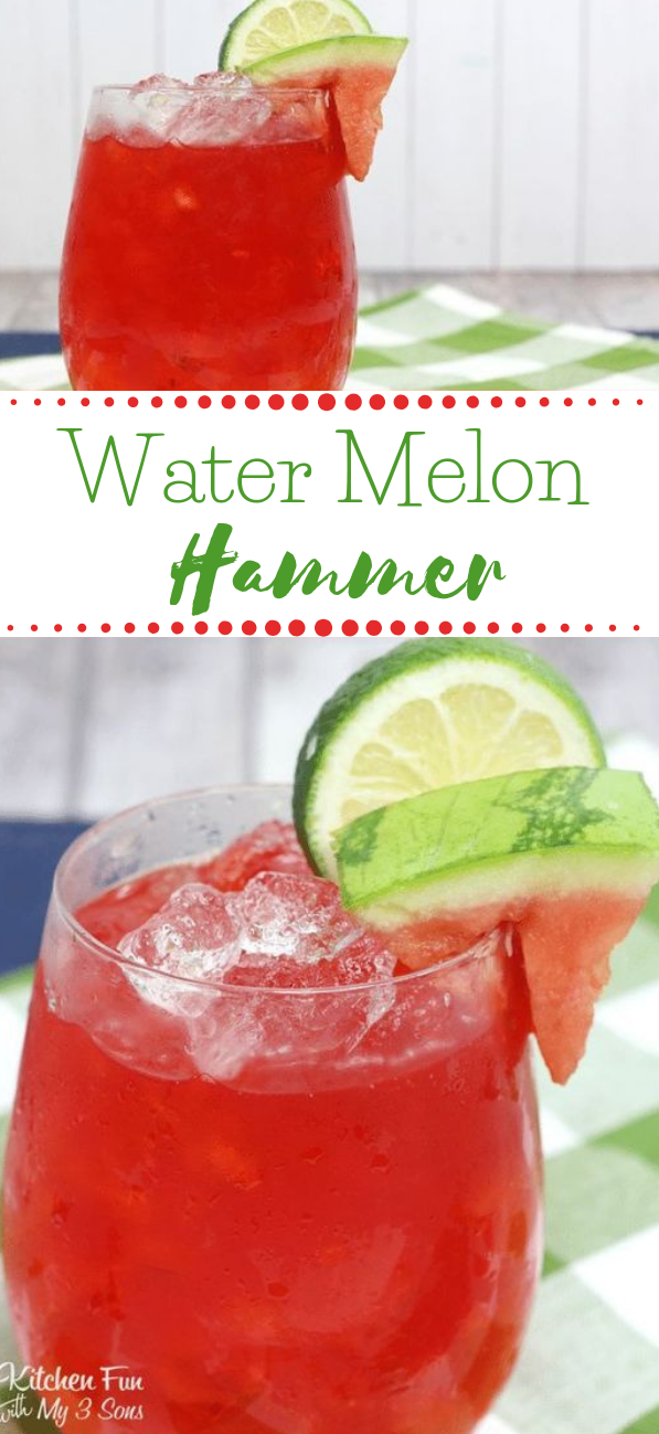 WATERMELON HAMMER COCKTAIL #cocktail #drink #watermelon #smoothie #party