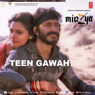 teen gawah hain ishq ke song lyrics english translation moive mirzya