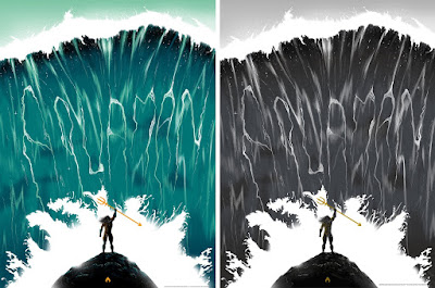 Aquaman Screen Print by Doaly x Bottleneck Gallery x DC Comics