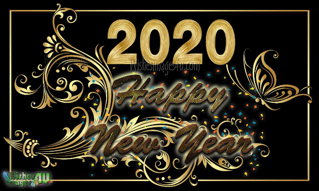 Happy New Year 2020 HD Golden Images Free Download