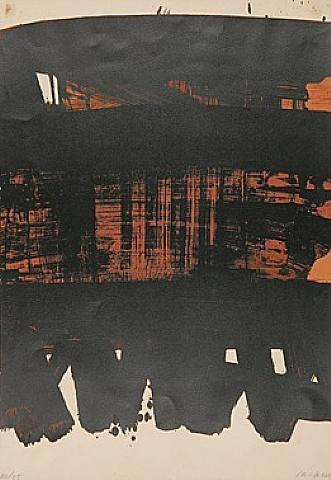 Composition Rouille Et Noire Xxv : composition, rouille, noire, ARTISTS:, Pierre, Soulages