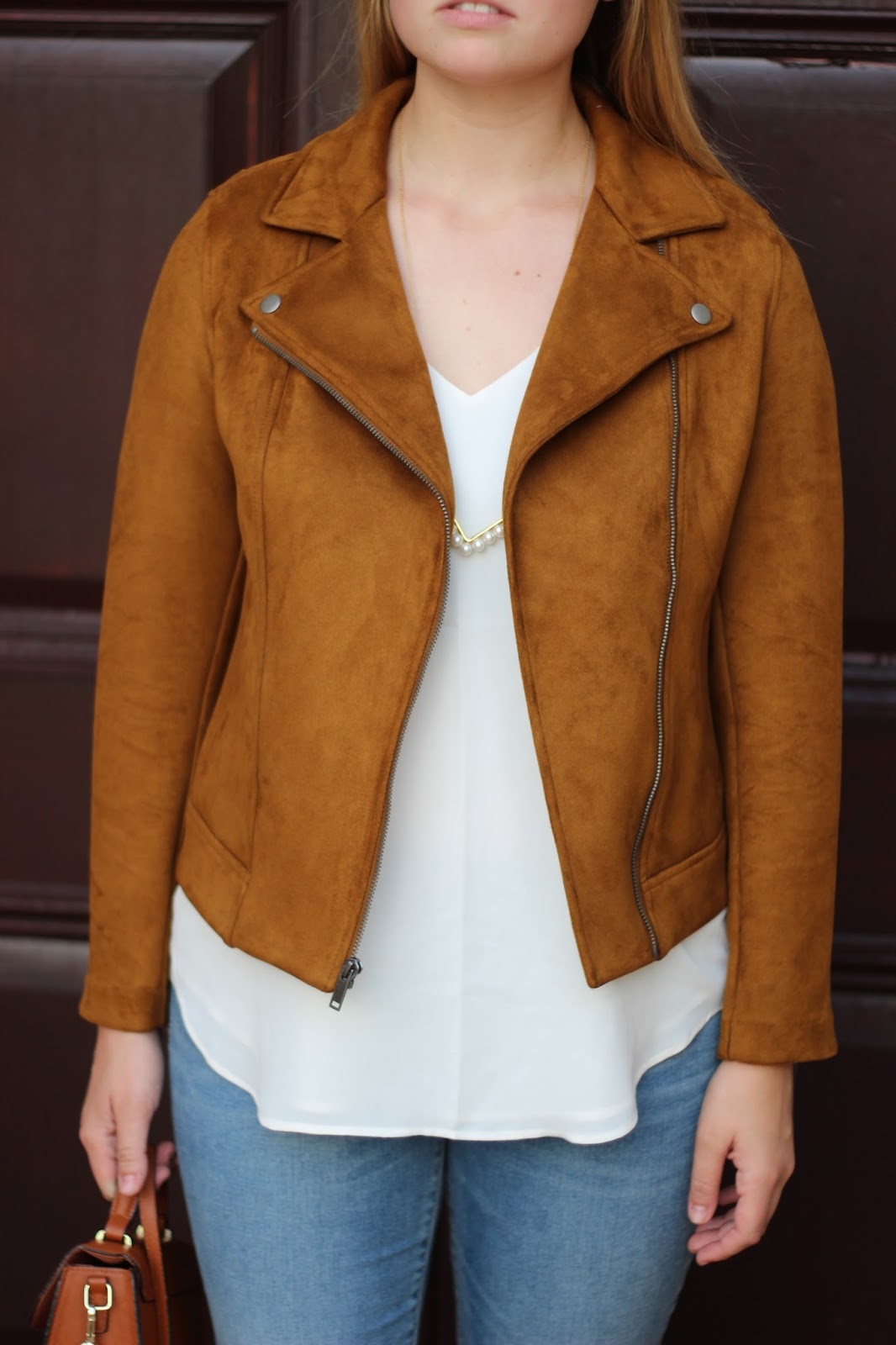8e0d0ee502 The Black Barcode  The Look For Less  Suede Moto Jacket + A Review ...