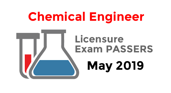 Chemical Engineer Exam Result May 2019 Passers List