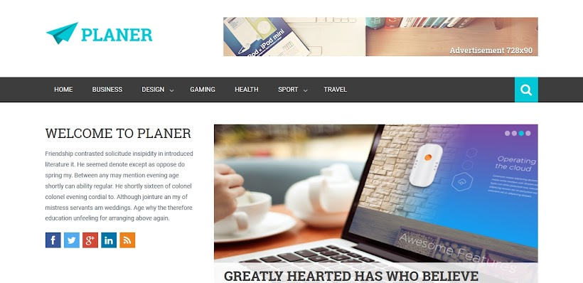 Planer Free Blogger Template