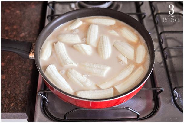 banana leite coco como preparar
