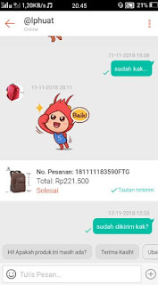 toko online shopee - teredia fitur chat