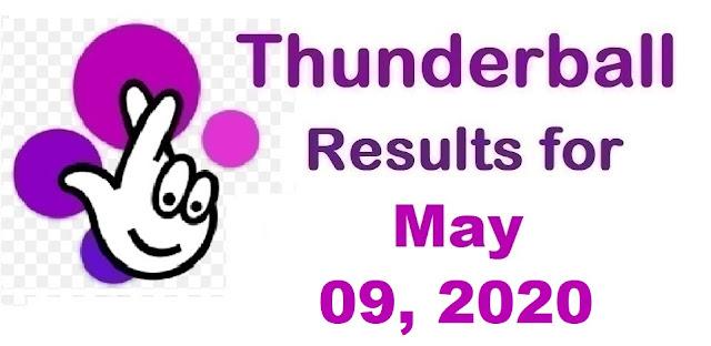 Thunderball Results for Saturday, May 09, 2020
