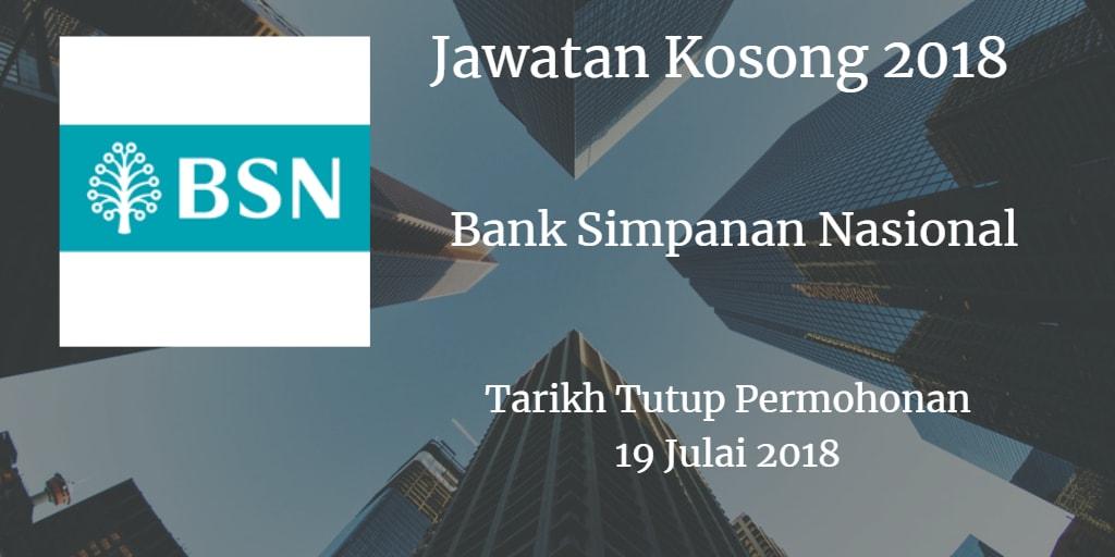 Jawatan Kosong BSN 19 Julai 2018
