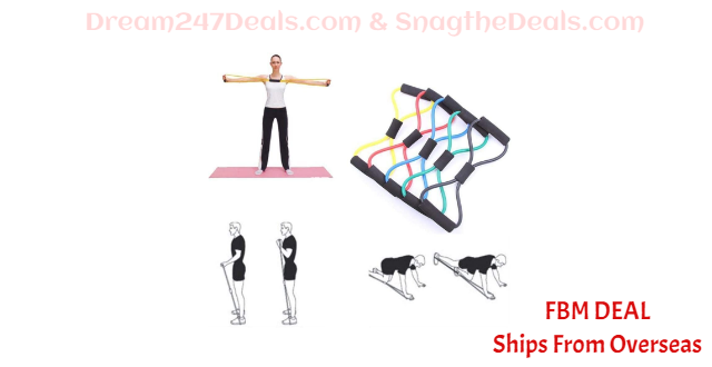 80%  off Fitness Yoga Latex Resistance Band