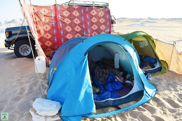 Acampada en el Desierto Blanco de Egipto