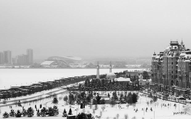 Дворцовая набережная реки Казанки.