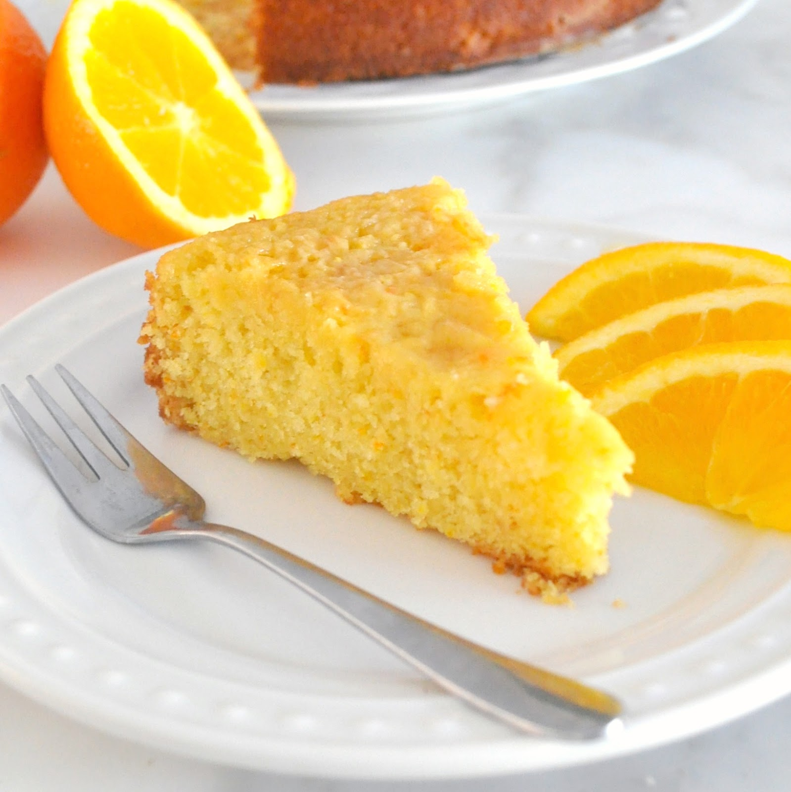 Homemade orange juice cake recipe