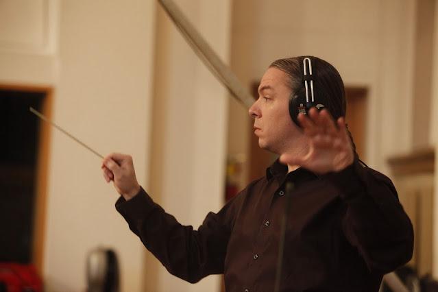 Jerod Impichchaachaaha' Tate at the recording sessions for Lowak Shoppala'