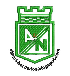 ESCUDO ATLETICO NACIONAL PARA BORDAR