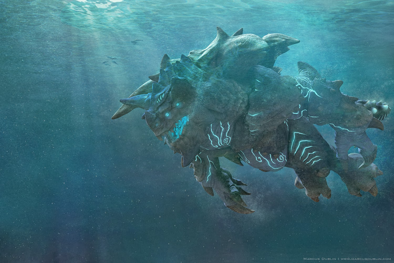 Kaiju Battle: Kaiju Titanus By 3-D Artist Marcus Dublin Pacific Rim Kaiju Category 3