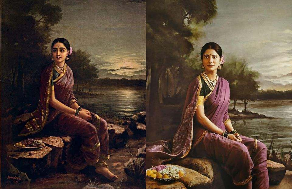 South actresses recreating iconic Raja Ravi Varma paintings for 2020 Calendar. Check out HD pictures! 6