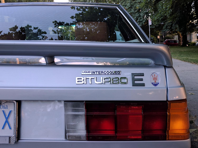 Old Parked Cars Vancouver: 1985 Maserati Biturbo E