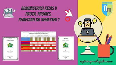 KI dan KD, Pemetaan KD Semester 1, Prota, dan Promes Semester 1 SD Kelas V