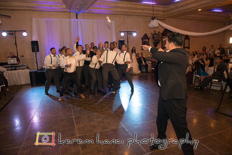 And a perfectly captured garter toss