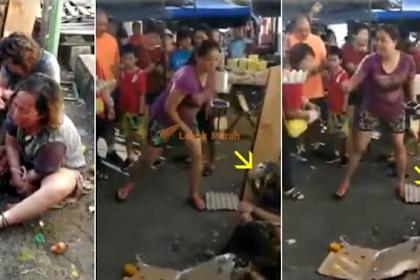 """"""" Wah Dah Macam Sukaneka Main Baling Teloq""""- Dua wanita Kena Rejam Dengan Telur Gara Gara Pukau Orang Ramai Di JB"""