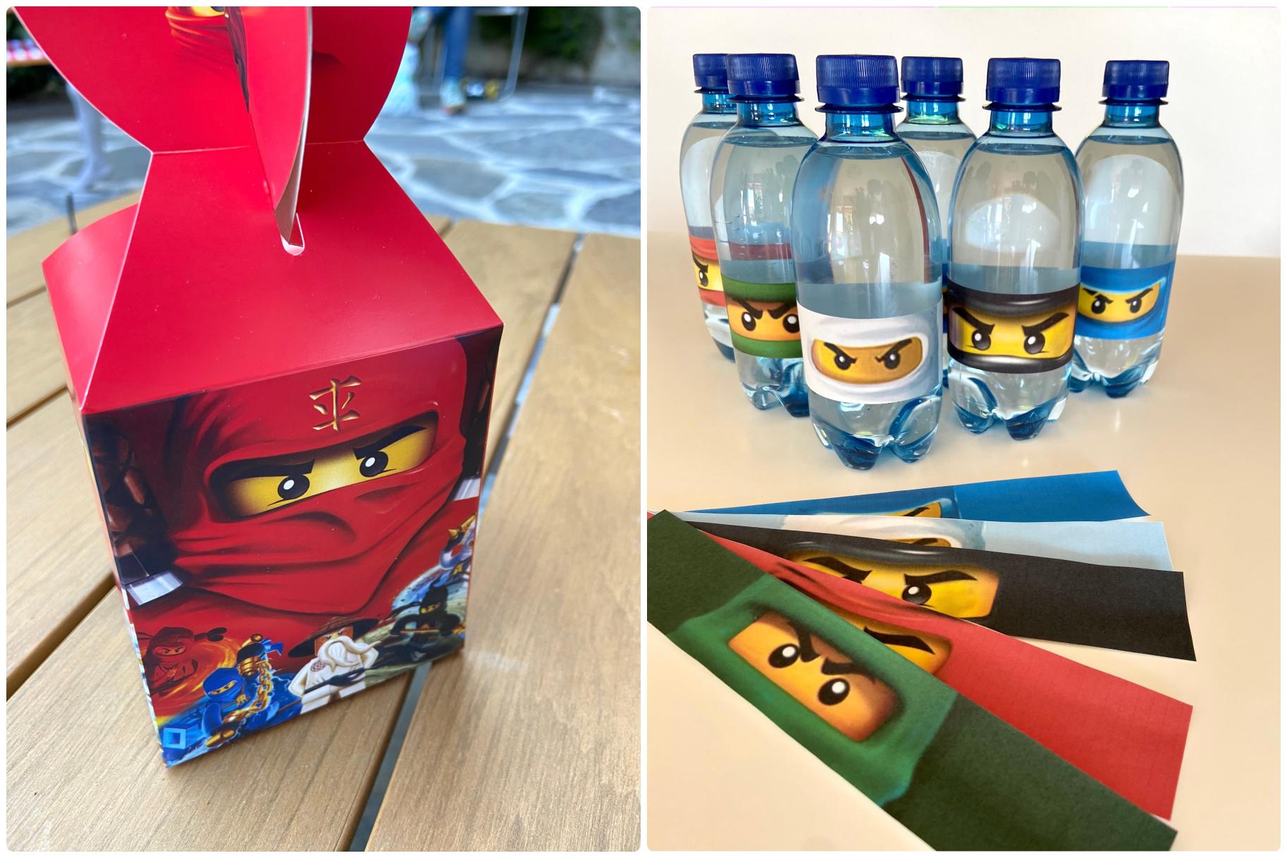 ninjago diy party lego χειροτεχνίες πάρτυ δώρα ετικέτες μπουκαλιών νερού